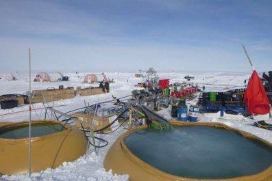 Antarctica drilling camp