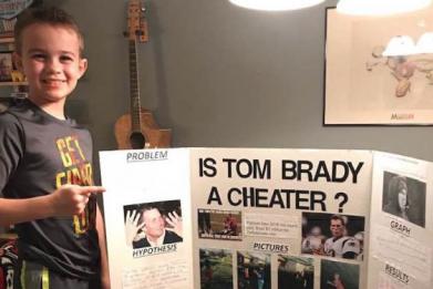 Ace Davis Wins Science Fair On Tom Brady Project