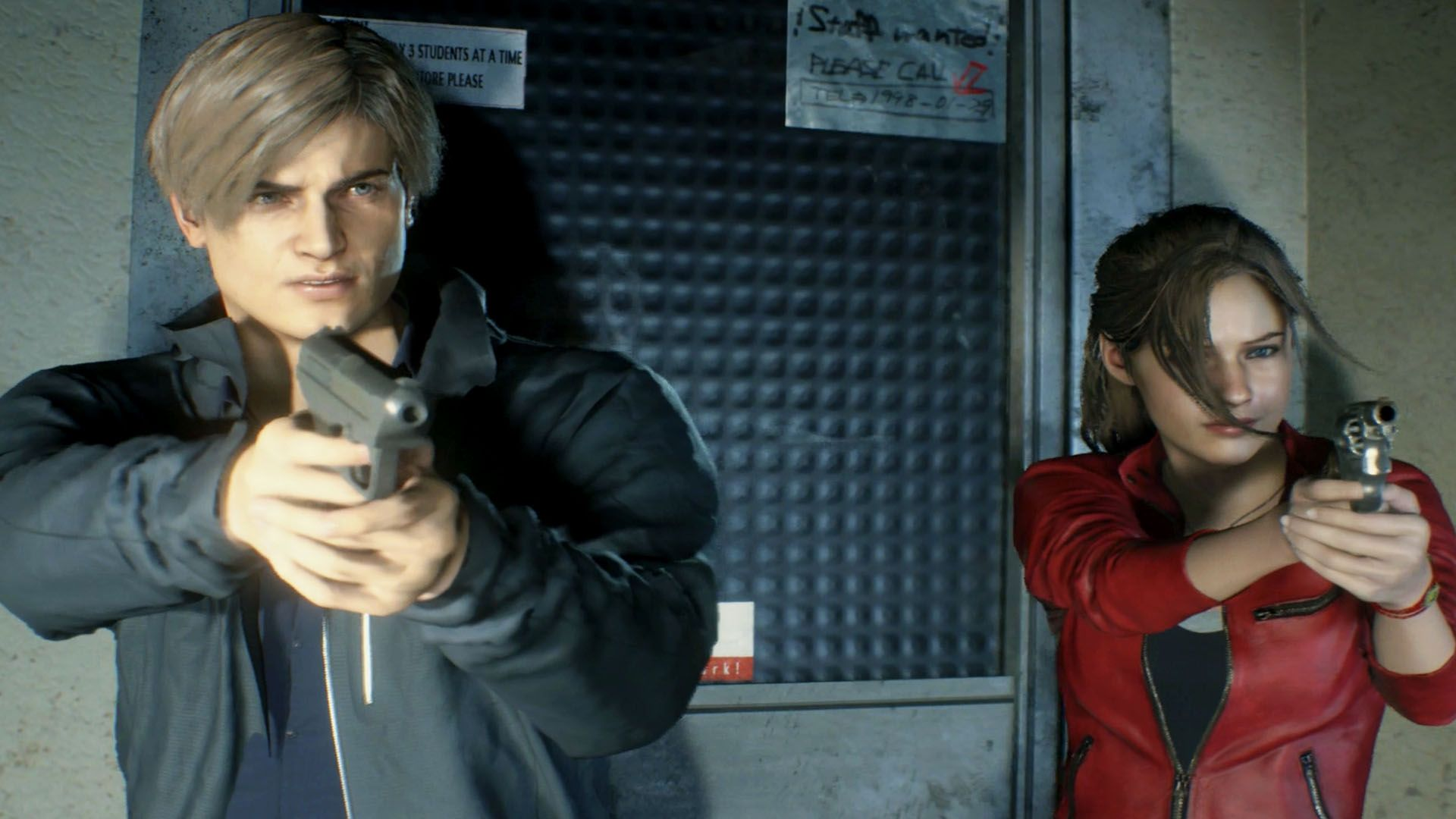 resident evil 2 claire and leon