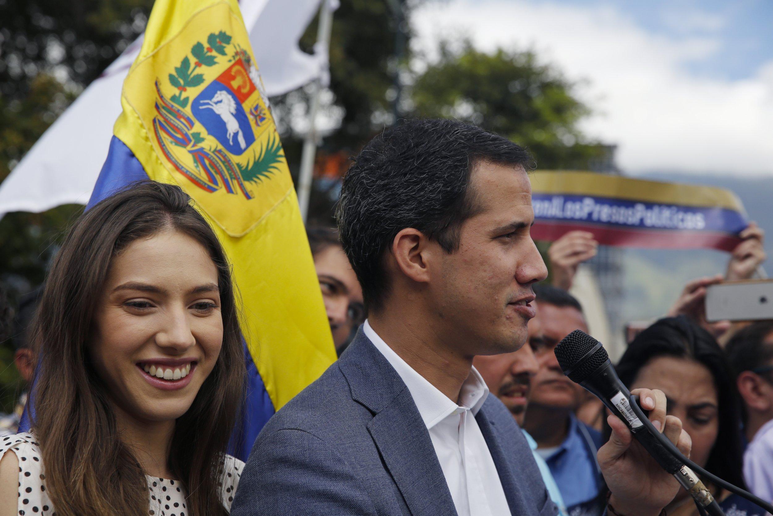 GettyImages-1125150956 Juan Guaido of Venezuela and wife
