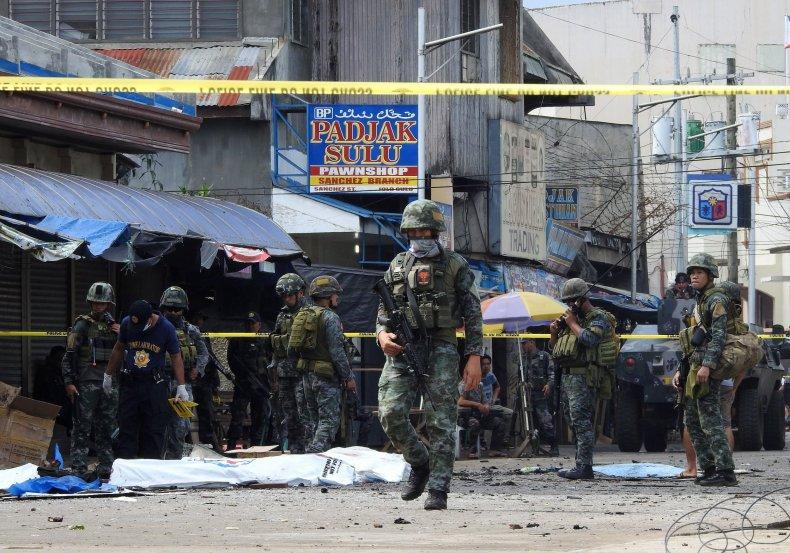 Jolo Sulu ISIS bomb attack church Philippines