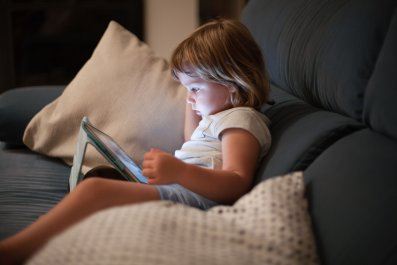 child screen time stock