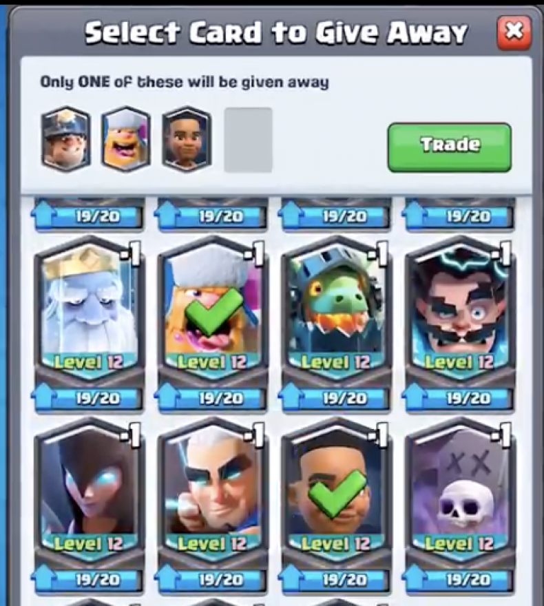 clash royale January 2019 update new trading system four cards