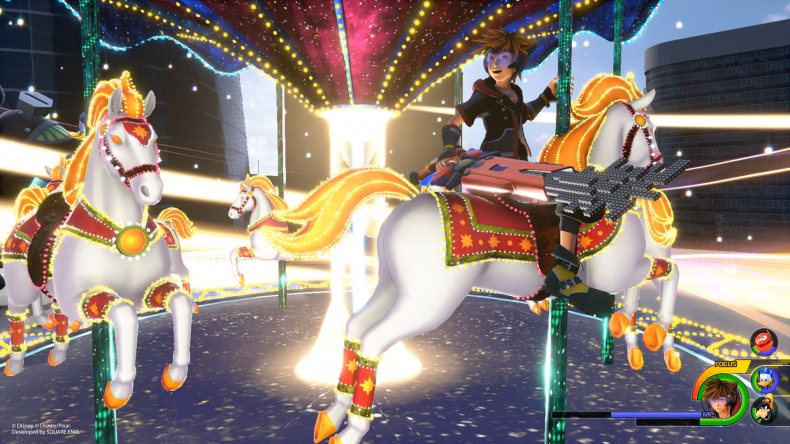 kingdom hearts 3 combat, flowmotion, air stepping attractions