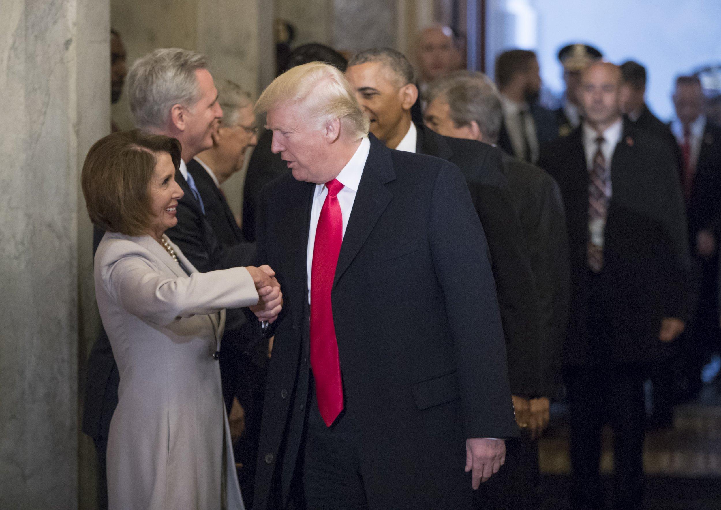 DemocratsApprovalRatingPelosiTrump