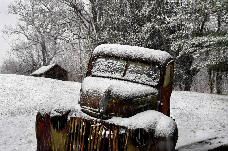 00 Polar Vortex snow Maryland