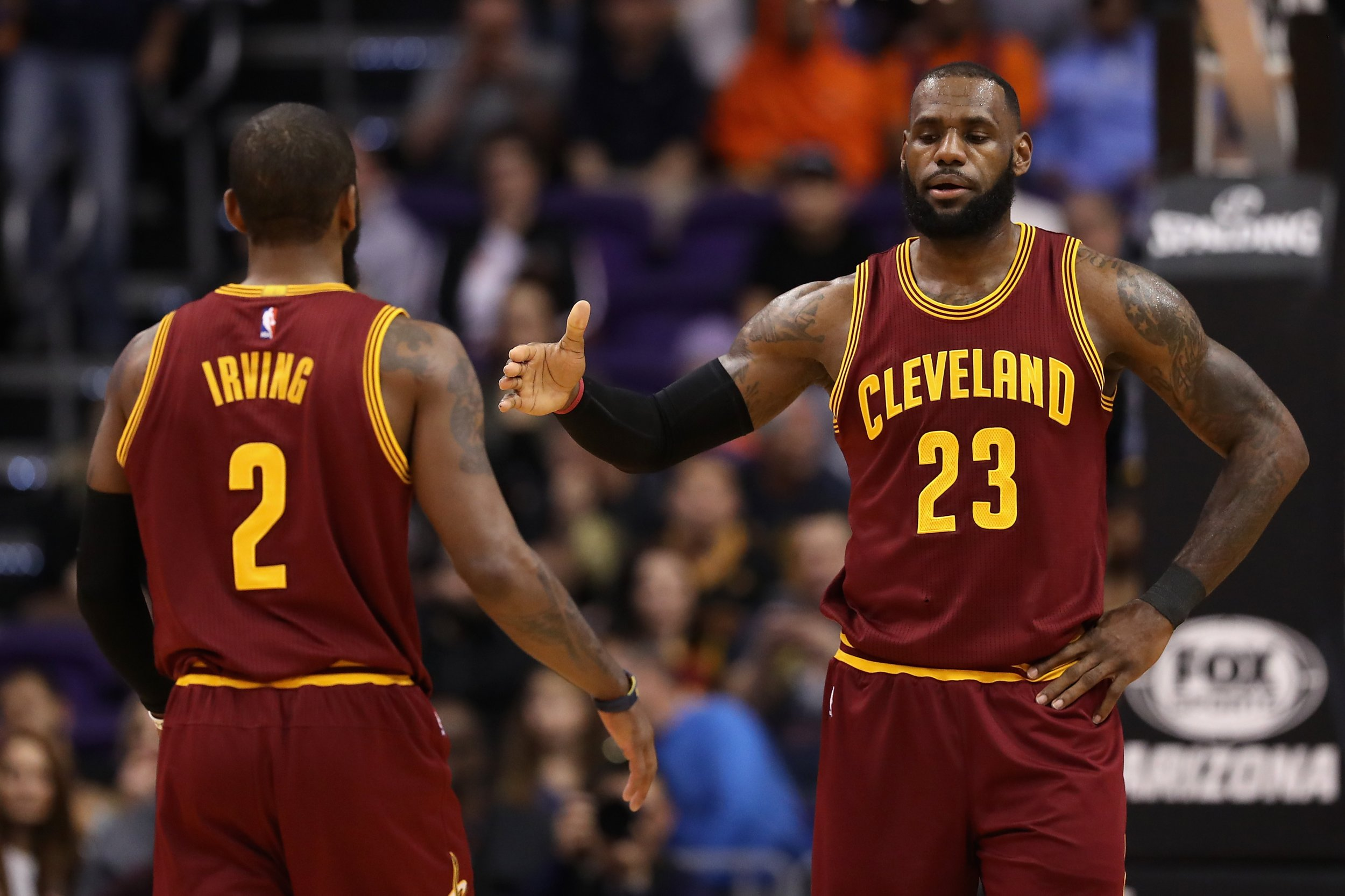 0c7b54d63bb Will LeBron and Kyrie Be Reunited? Irving 'genuinely Interested' to Join  Forces with James Again