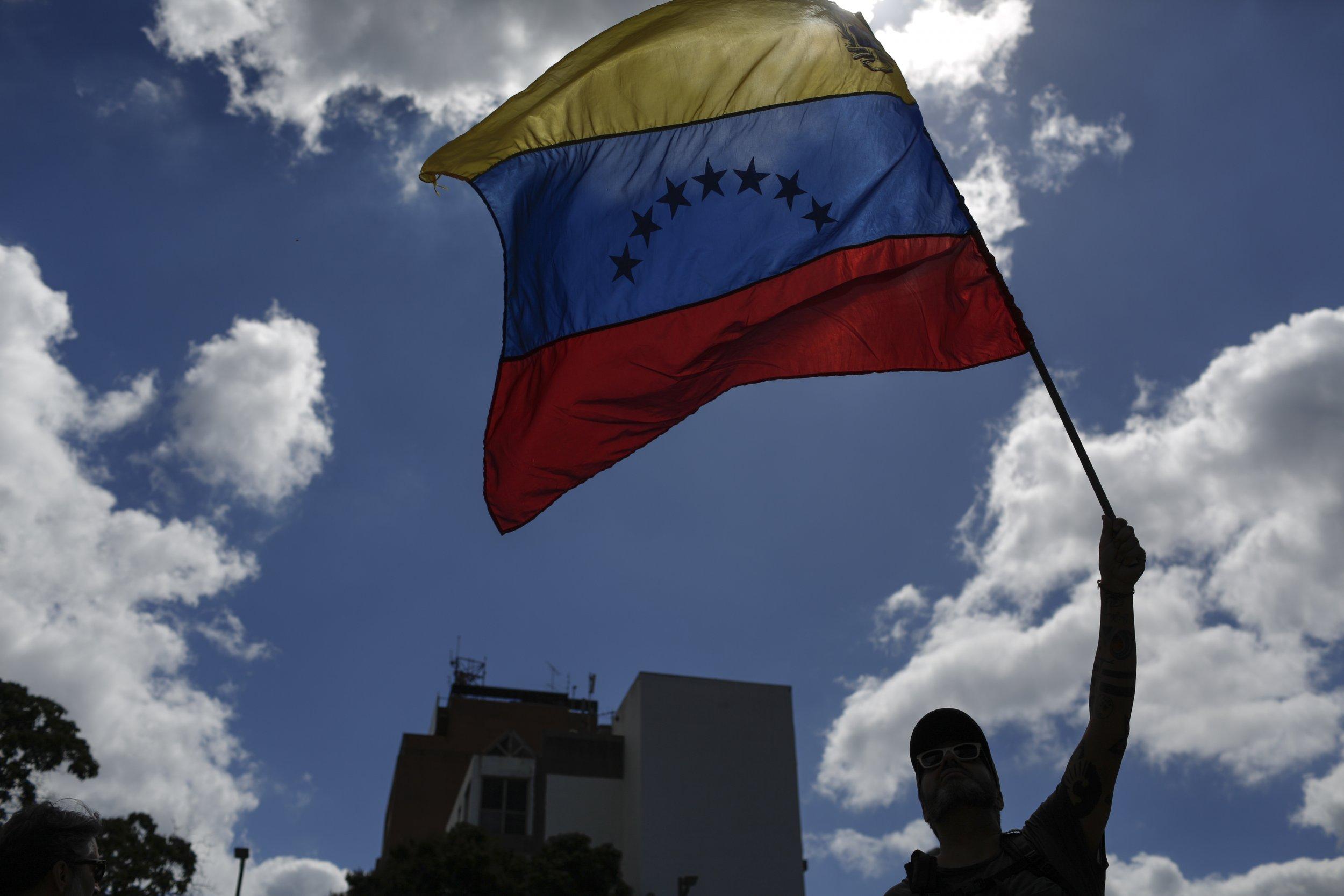 Venezuela flag Nicolas Maduro Donald Trump