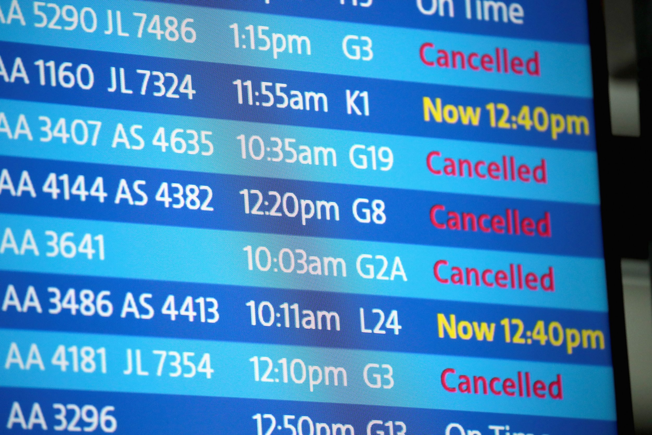 Flight Cancellations Today Winter Storm Halts Flights In