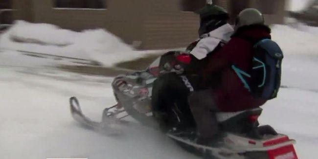 Lake Odessa snowmobile delivery