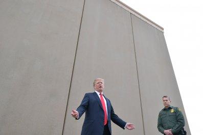 donald, trump, wall, steel, slats, built, barrier