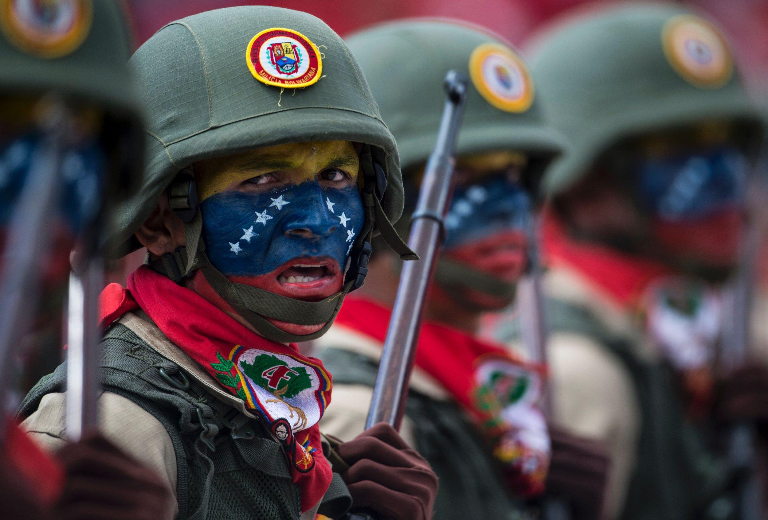Venezuela military parade Maduro