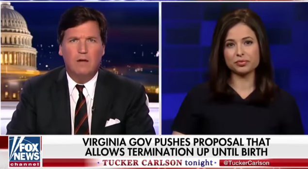 tucker carlson monica klein abortion
