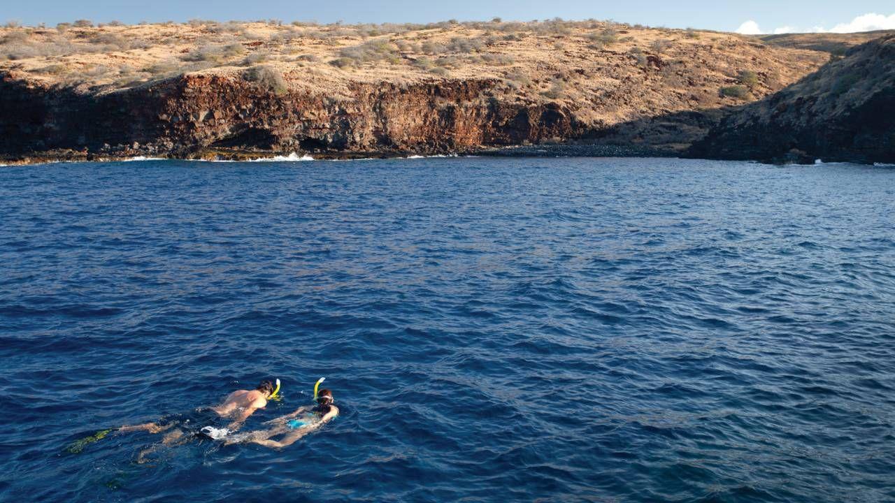 Hulopo'e Beach hawaii beach lanai snorkeling