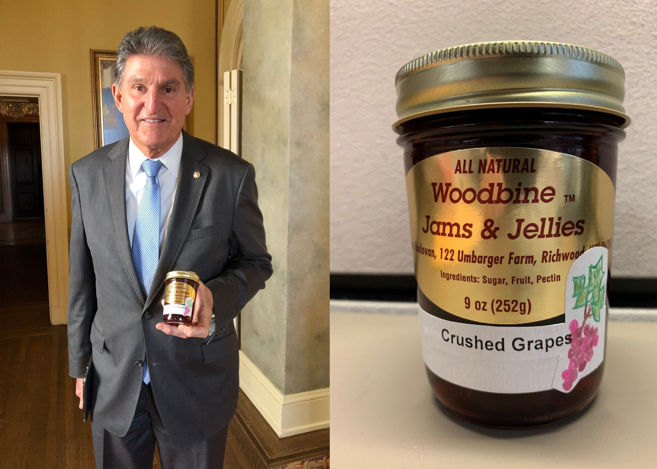 Democrat Joe Manchin Gives Mitch McConnell a Jar of Jam For
