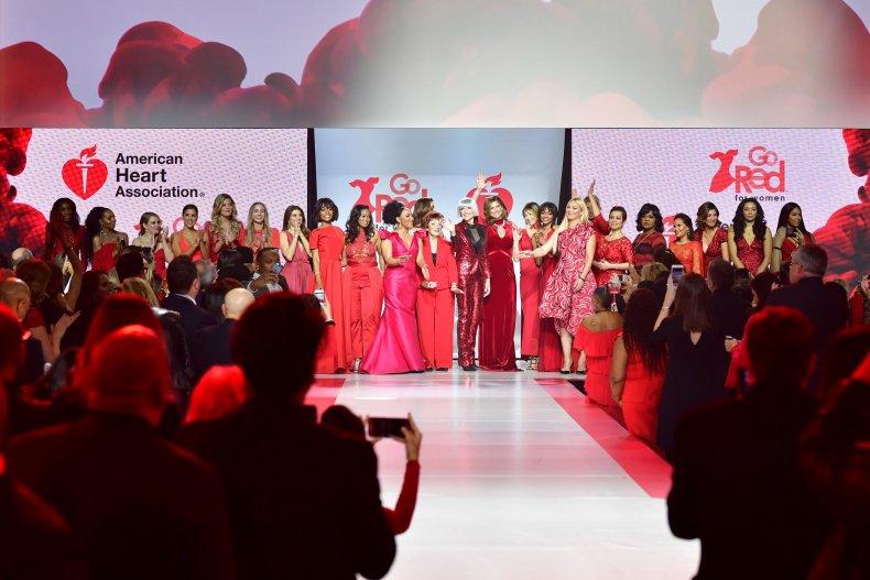 AHA red runway show