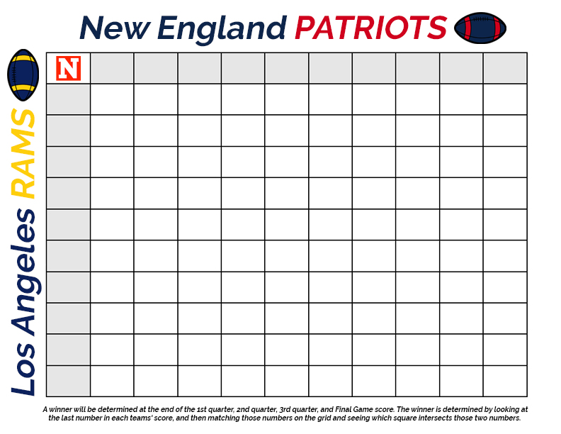 Super Bowl Squares 2019 Template How To Play Download For Patriots