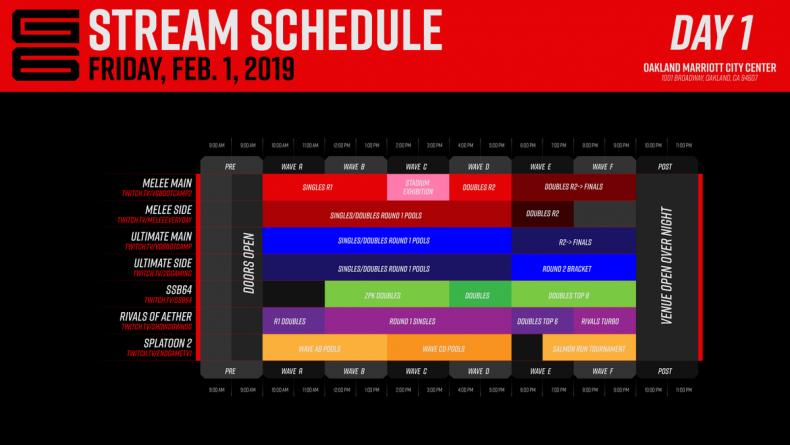 genesis, 6, stream, schedule, twitch, bracket, brackets, smash, bros, tournament, results