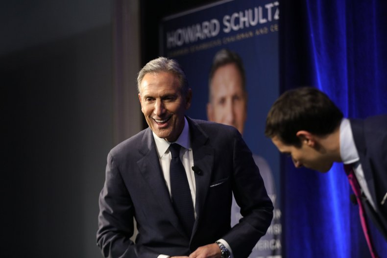 howard, shultz, unfavorable, democrats, republicans, independents
