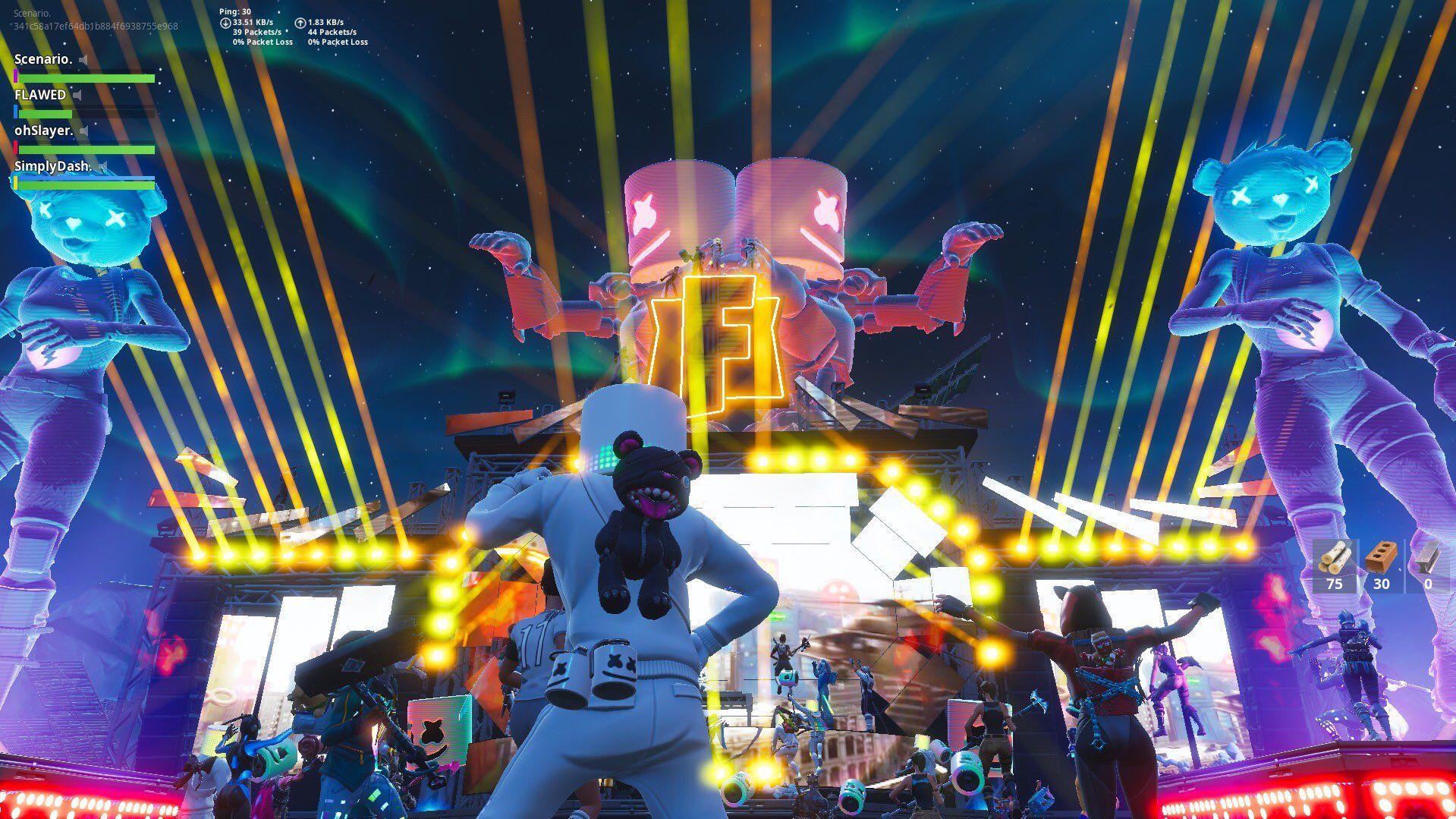 fortnite showtime event screen 2 - fortnite 30 packet loss
