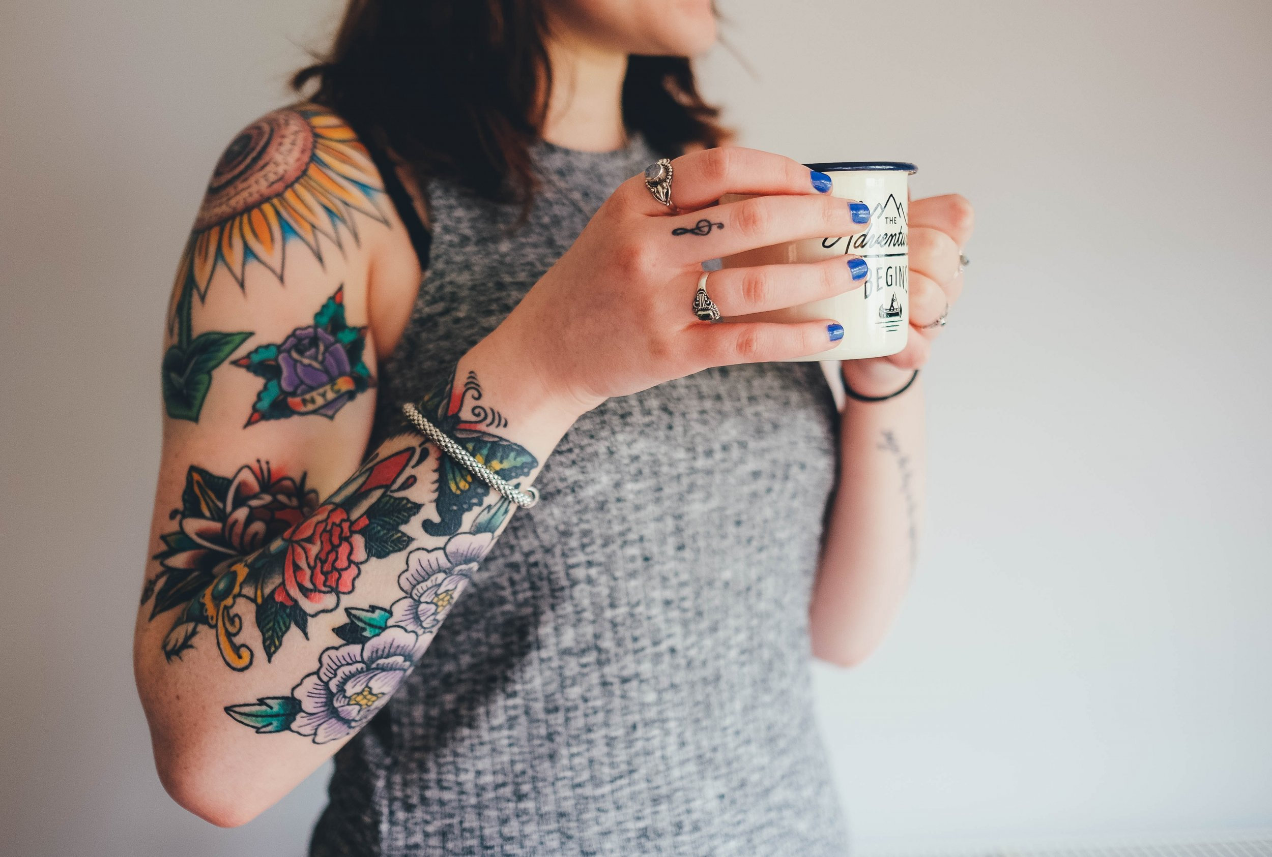 coffee millennial tattoo stock unsplash
