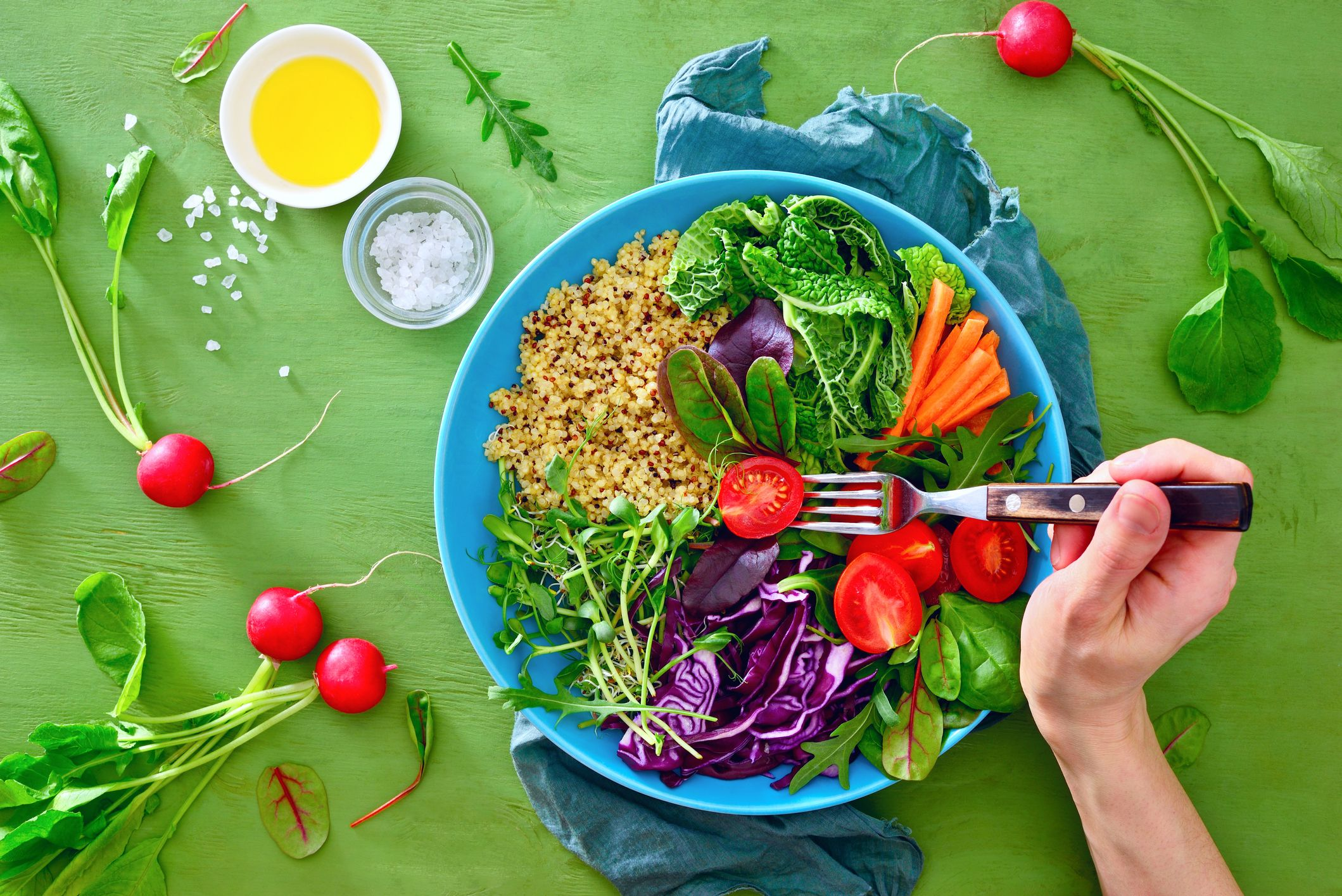 vegan food vegetables healthy stock getty