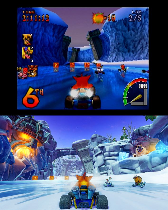 Crash Team Racing (PS) Compared to Crash Team Racing Nitro-Fueled (PS4)