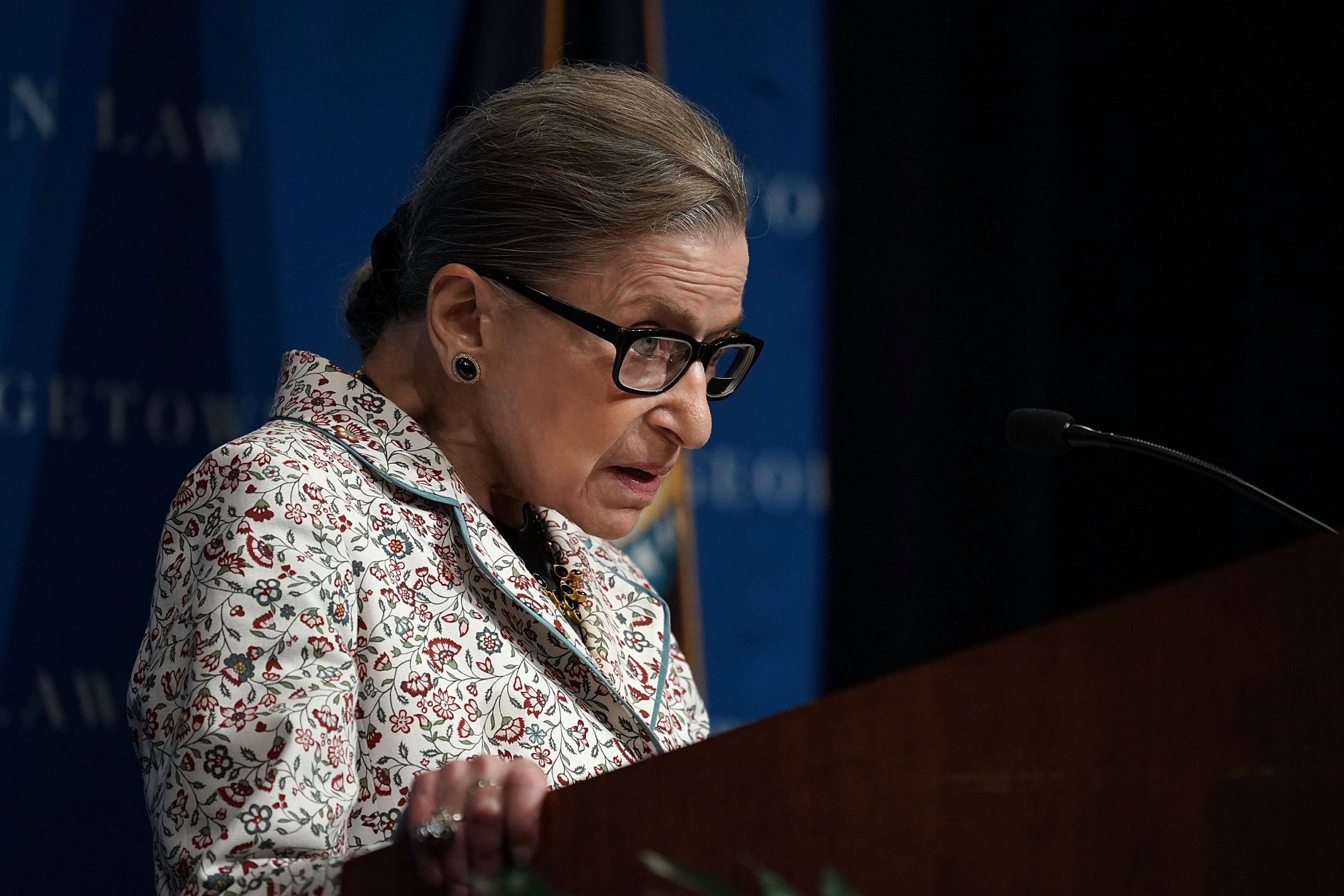 Ruth Bader Ginsburg Makes First Public