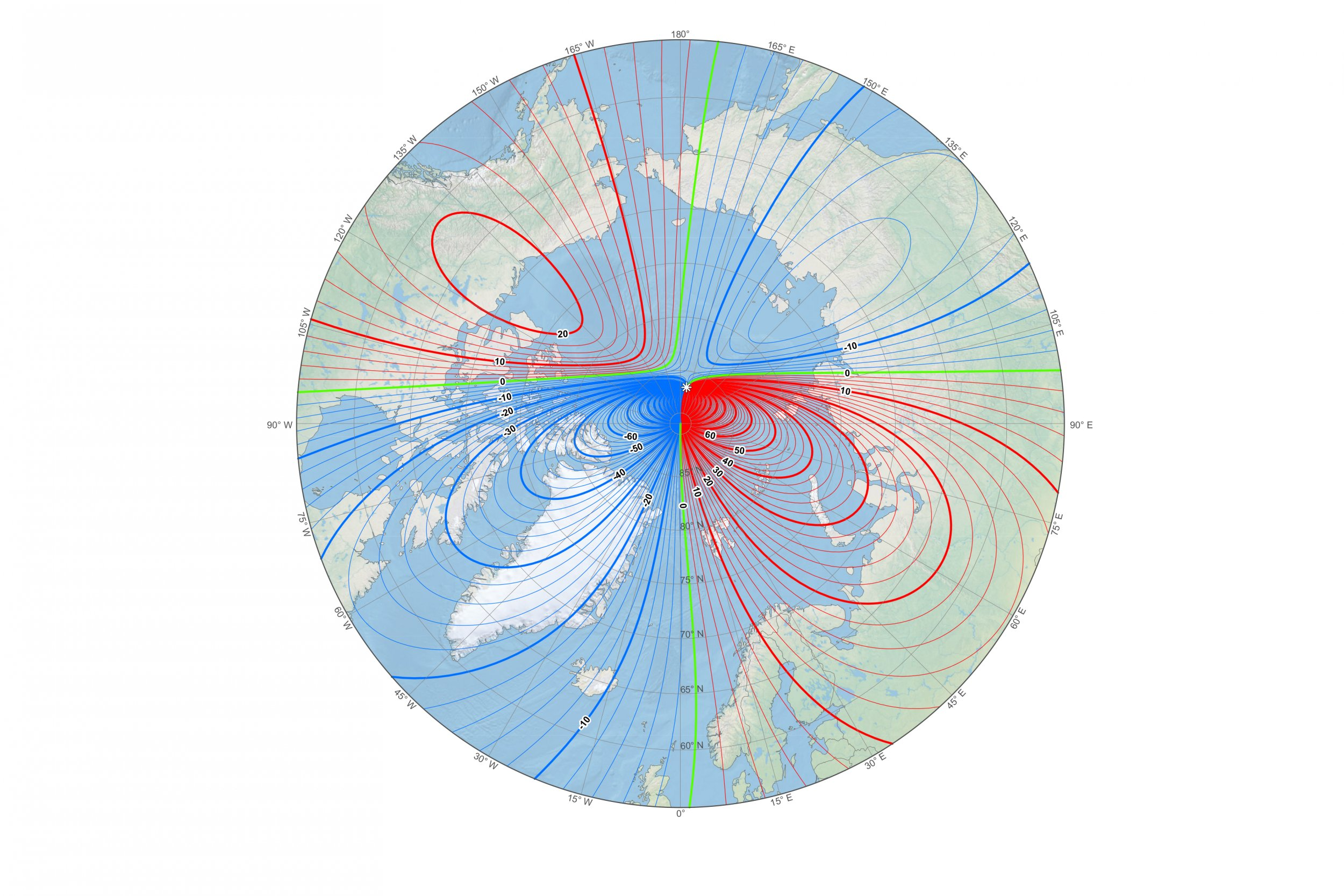 Earth northern magnetic pole