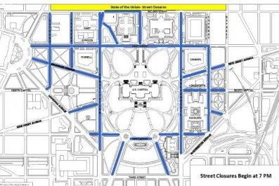 street closures state of the union washington dc trump's speech