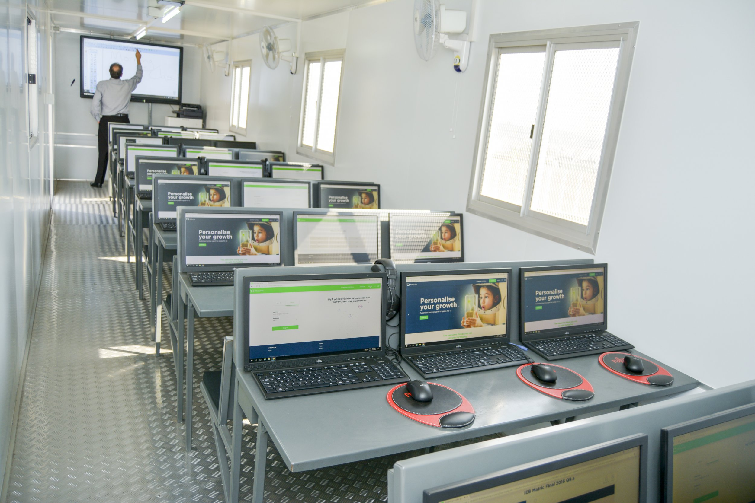 The Edu Smart Green Centres equipped with the latest digital learning devices