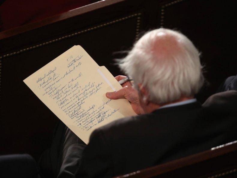 Sanders SOTU Notes