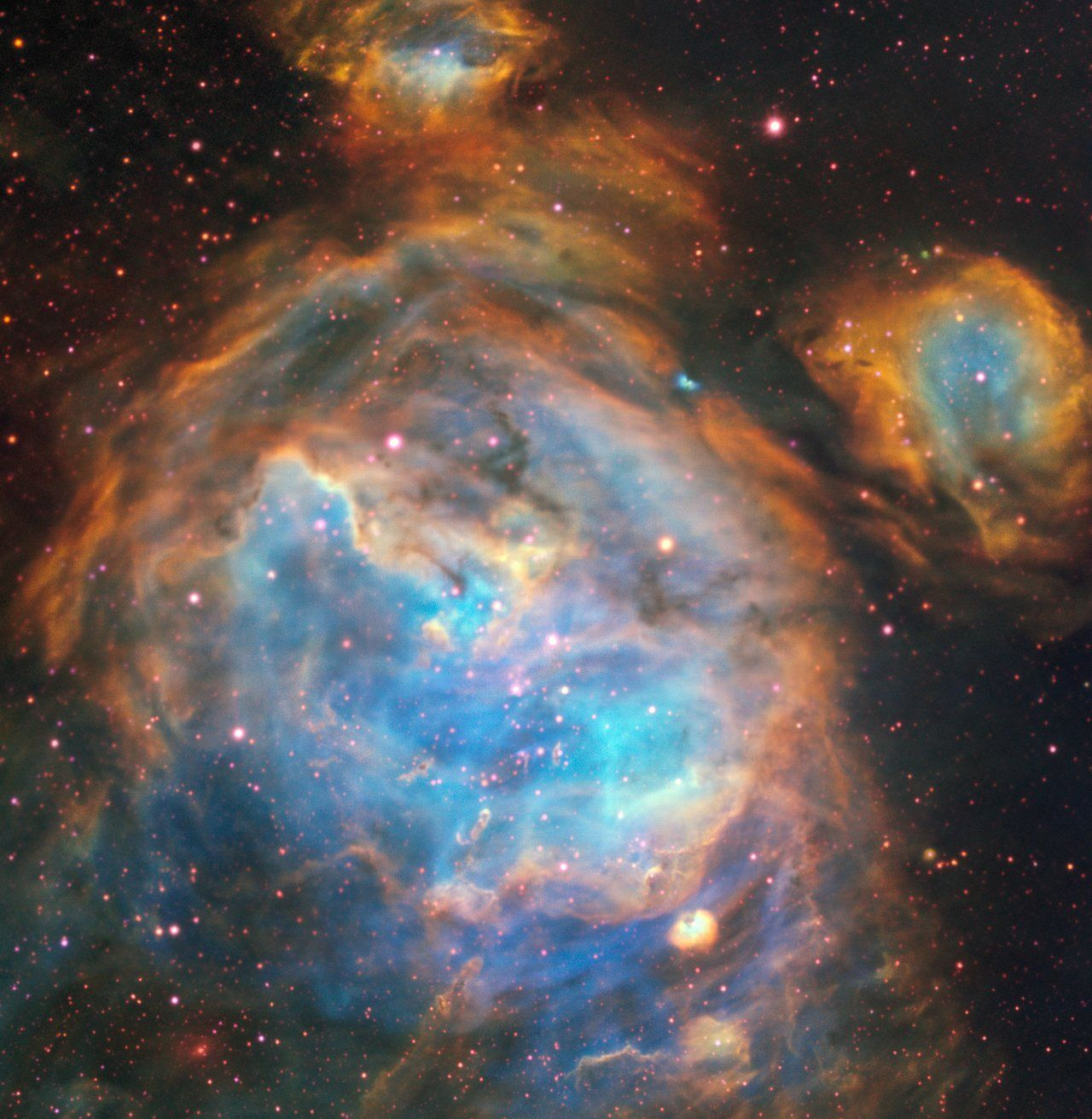 Stellar nursery in Large Magellanic Cloud