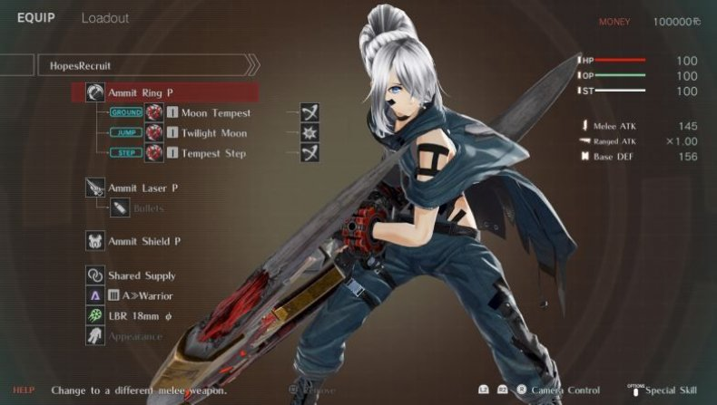god eater 3 loadout screen