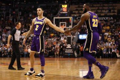 Lonzo Ball, LeBron James