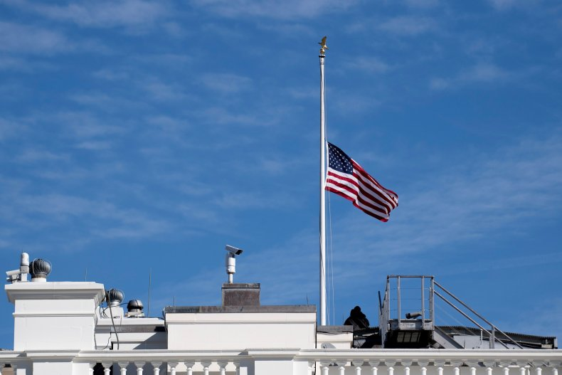 why are flags at half staff? trump orders john dingell