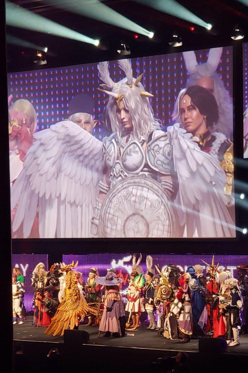 ff fan fest cosplayers stage