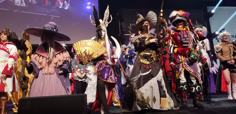 cosplayers panorama ffxiv fanfest