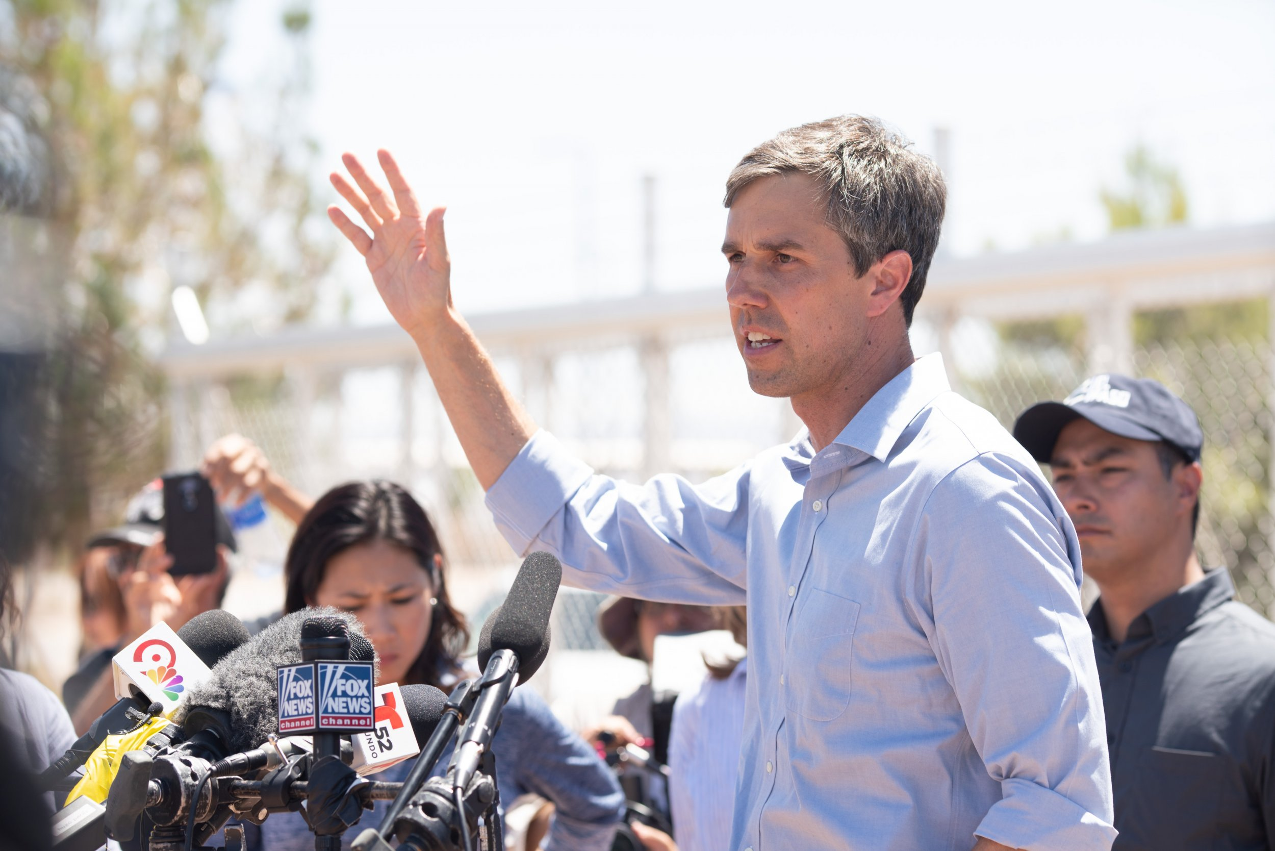 Beto, O'Rourke, border rally, trump