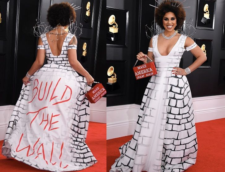 Joy Villa: Who Is Joy Villa? Singer Wore 'Build The Wall' Gown To Grammys