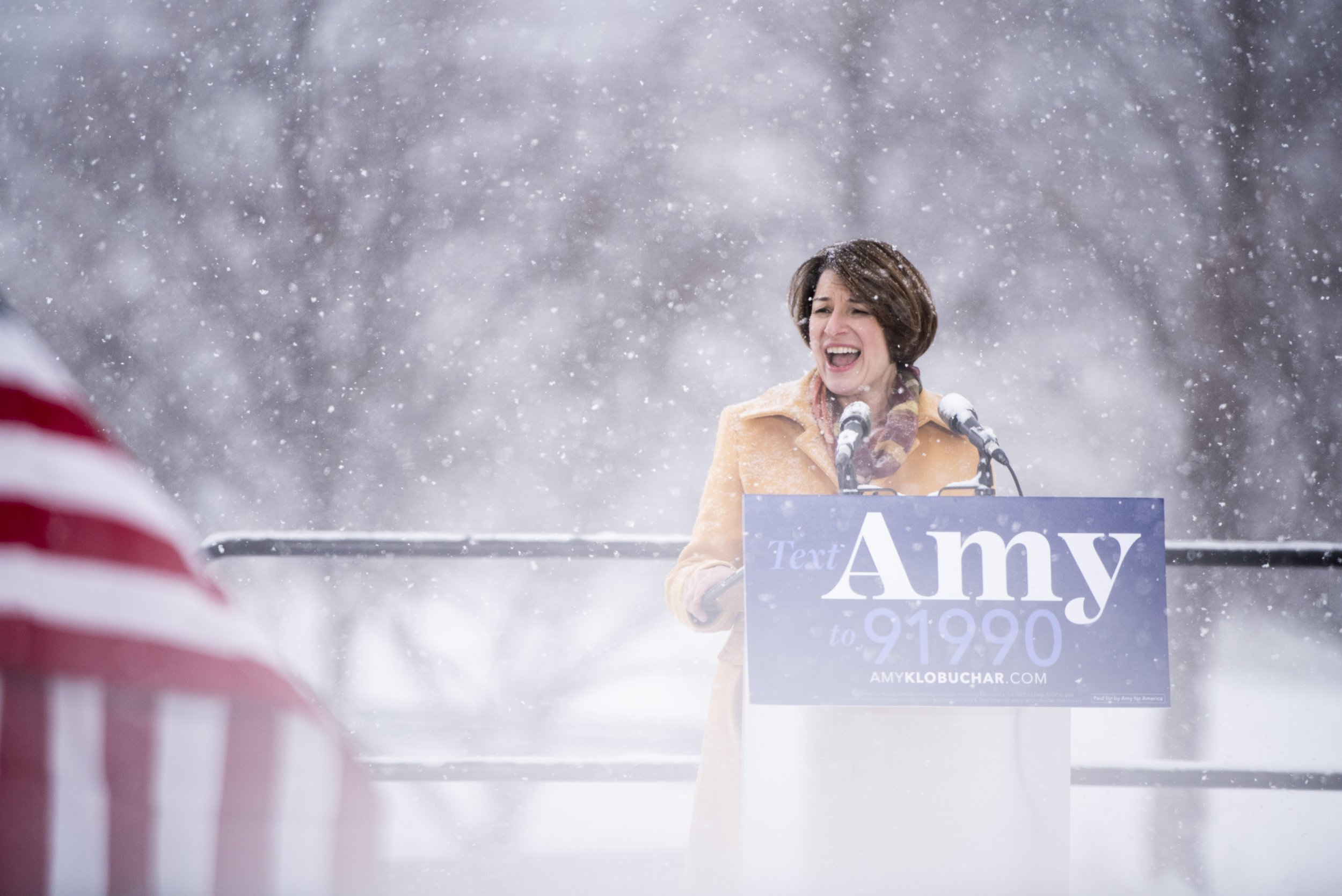 amy klobuchar snow donald trump tweet