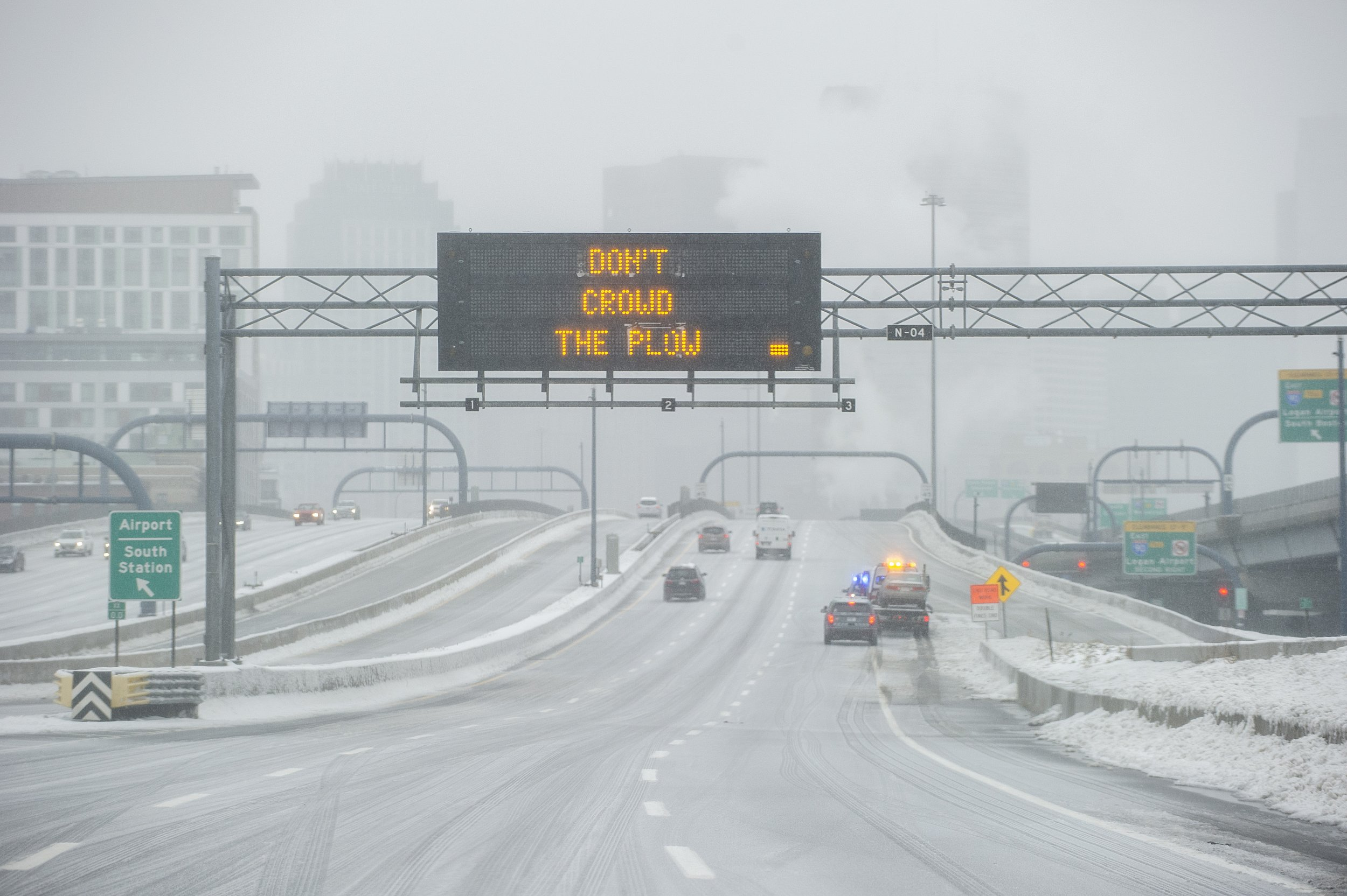 boston snow and plow sign