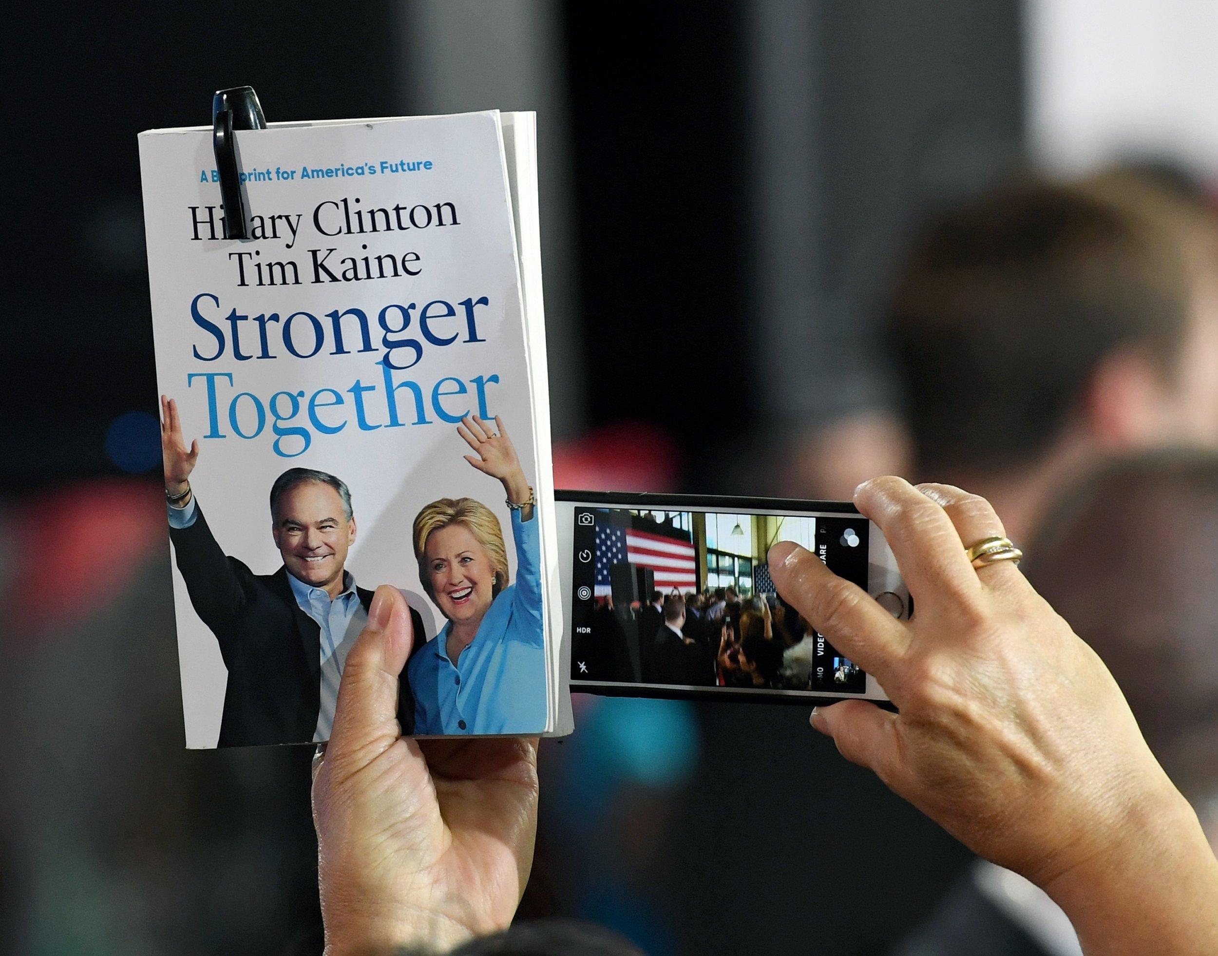 Hillary Clinton Donald Trump Stronger Together
