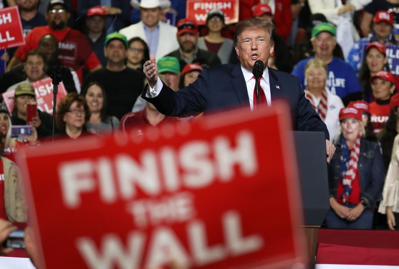 Donald Trump rally border wall