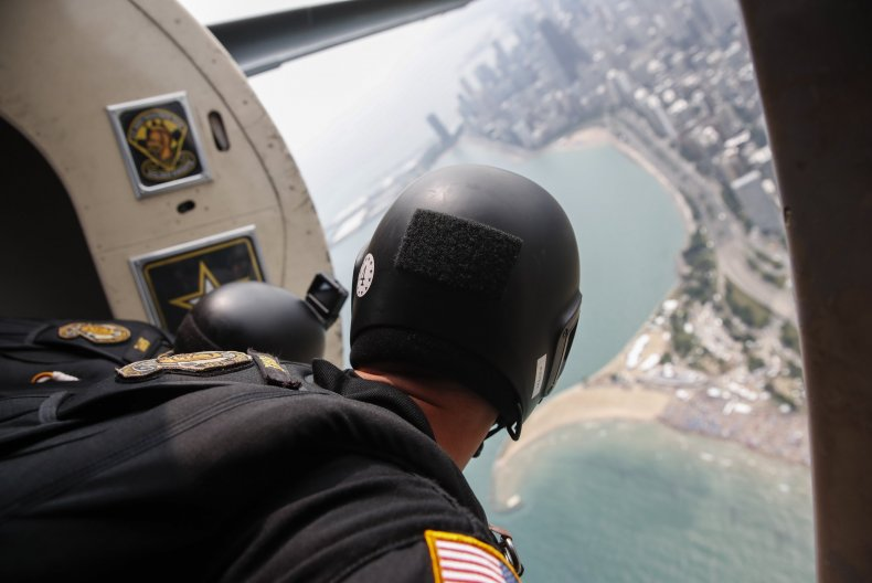 golden knights army parachute accident injured miami