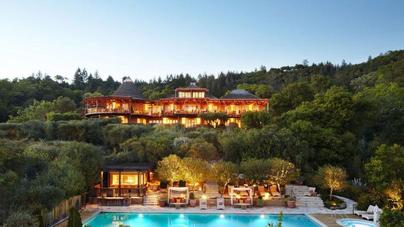Romantic Hotels -  Auberge du Soleil, Napa Valley
