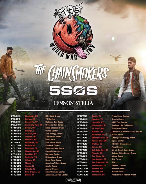 5SOS & Chainsmokers Tour Dates
