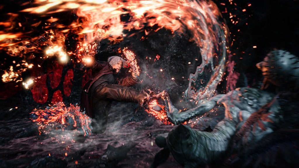 devil may cry 5 dante balrog fight