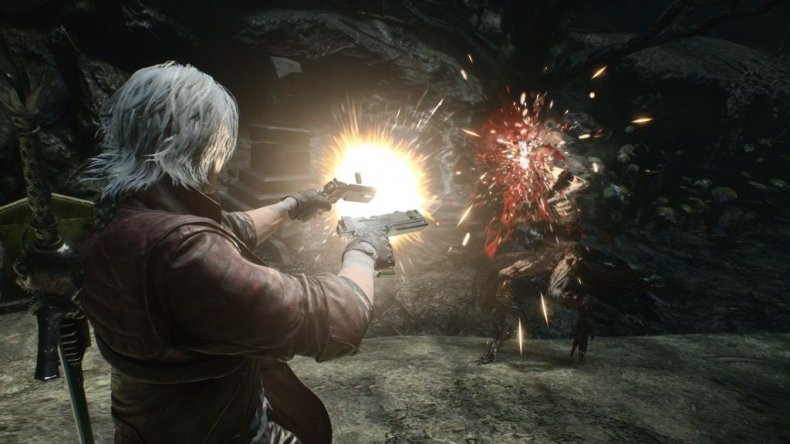 devil may cry 5 dante gun fight