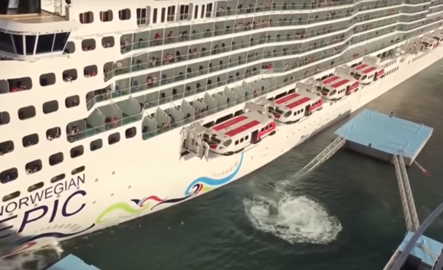 Video: Giant Cruise Ship Destroys Pier While Docking After